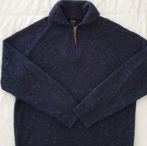 J. Crew Donegal Half Zip Shawl Collar Sweater